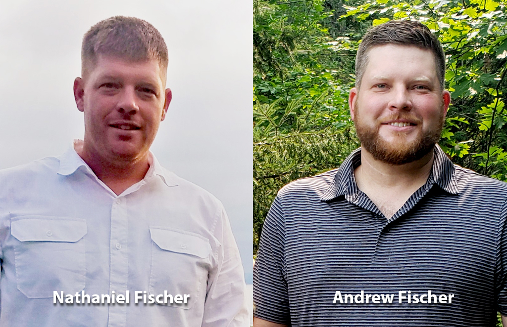 Photos of Nathaniel and Andrew Fischer