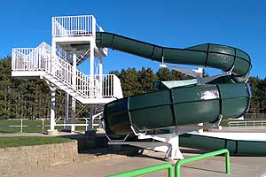 photo of waterslide for testimonial