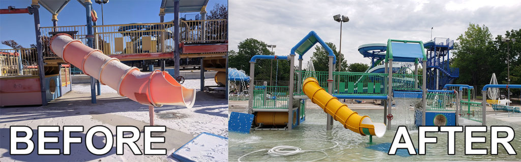 north commons before and after waterslides